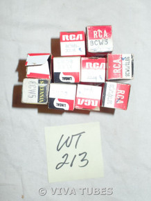 Lot of 10 8CW5 Boxed Vacuum Tubes. Untested Mixed Brands. Not NOS.