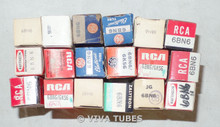 Lot of 18 6BN6 Boxed Vacuum Tubes. Untested Mixed Brands. Not NOS.