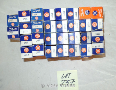 Lot of 30 GE 6SV7 Boxed Vacuum Tubes. Untested.