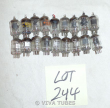 Lot of 18 6AK5 Loose Vacuum Tubes. Untested Mixed Brands. Not NOS.