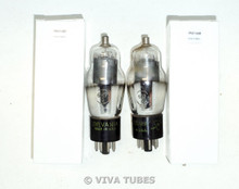 NOS Matched Pair Sylvania USA 6K7G Gray Plate Bottom D Foil Get Vacuum Tubes