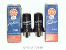 NOS NIB Matched Pair GE USA 6SC7 Metal Vacuum Tubes 100%