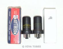 NOS Matched Pair Raytheon USA 6SC7 Metal Vacuum Tubes 100+%