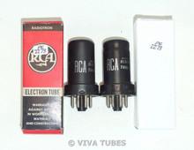 Matched Pair RCA USA 6SC7 Metal Vacuum Tubes 80/95% & 90/95%