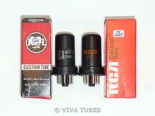NOS NIB Matched Pair RCA US 6SC7 Metal Vacuum Tubes