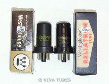 NOS NIB Matched Pair Westinghouse USA 6SC7 Metal Vacuum Tubes 100+%