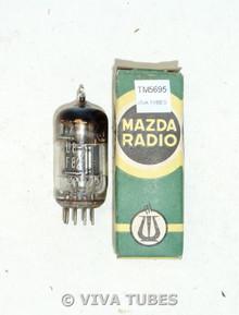 NOS NIB Mazda France 6U8/ECF82 Gray/Black Plate Top Horseshoe Get Vacuum Tube