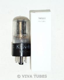 GE / Ken-Rad USA 6SN7GT BLACK Flat-Aligned Plate D Foil Get Vacuum Tube 91/69%