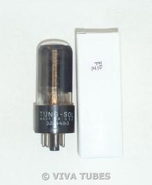 Vintage Tung-Sol USA 6V6GT BLACK Plate D Foil Get Smoked Vacuum Tube 79%