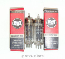 Hi-Fi Audio NOS NIB Matched Pair RCA 6X4 [] Foil Strip Dimple Get Vacuum Tubes