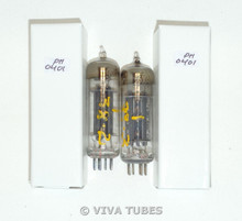 Hi-Fi NOS Matched Pair Vintage RCA? USA 6X4 [] Dimple Foil Strip Vacuum Tubes