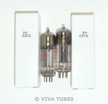NOS Date Matched Pair Raytheon JRP-6X4W Silver Grey Plate S-Rods Vacuum Tubes