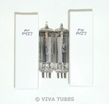 NOS Date Matched Pair Mazda 6X4 France Grey Silver Plate O Get Vacuum Tubes