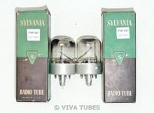 NOS NIB Date Matched Pair Sylvania USA 7F8 [] Get Vacuum Tubes 100+%