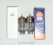 Matched Pair GE USA 12AT7 [ECC81] Grey Plate [] Get Vacuum Tubes 80%