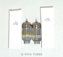 Date Matched Pair Sylvania 12AT7 [ECC81] Grey Plate 3 Mica Vacuum Tubes 108/80%