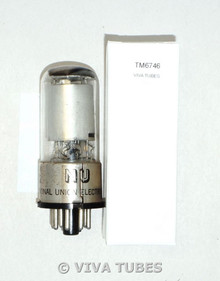 National Union NU USA 6SK7GT Silver Smooth Plate [] Get Rattle Vacuum Tube 95%