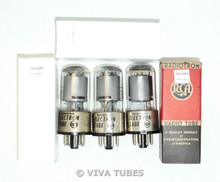 NOS Date Matched Trio (3) RCA Radiotron 6SK7GT Gray Plate Rattle Vacuum Tubes