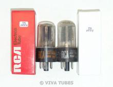 NOS NIB Matched Pair RCA Radiotron USA 6X5GT Grey Plate Vacuum Tubes