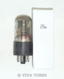NOS Sylvania USA JAN-CHC-6X5GT/VT-126B FOIL GETTER 3 Mica Vacuum Tube