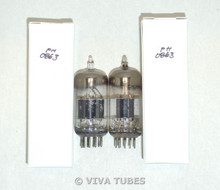 NOS Matched Pair Vintage USA 12AT7 ECC81 Black Plate Top [] Get Vacuum Tubes