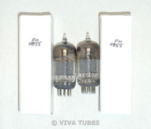 NOS Matched Pair Vintage USA 12AT7 ECC81 Grey Plate Top [] Get Vacuum Tubes