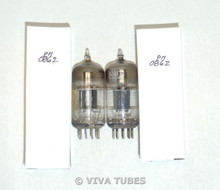 NOS Matched Pair Vintage USA 12AT7 = ECC81 Black Plate Top [] Get Vacuum Tubes