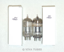NOS Matched Pair Vintage USA 12AT7 ECC81 Black Plate [] Get Vacuum Tubes