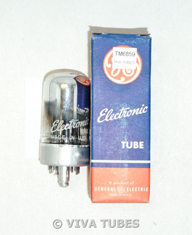 GE USA 7F7 Black Round-Edge Plate Top Get Chrome Vacuum Tube 93/74%