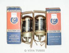 NOS NIB Matched Pair RCA Cunningham USA 7G7 Gray Plate Chrome Vacuum Tubes 100+%