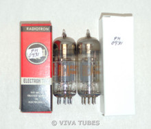 NOS Date Matched Pair RCA 12BY7A [12BV7 12DQ7] Grey Plate Vacuum Tubes