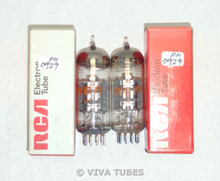 NOS NIB Date Matched Pair RCA USA 12BY7A/12BV7/12DQ7 Solid Disc Get Vacuum Tubes
