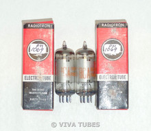 NOS NIB Date Matched Pair RCA Electron US 12BE6 [HK90] Silver Plate Vacuum Tubes