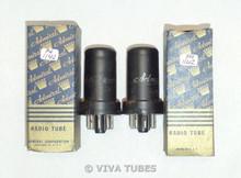 NOS NIB Matched Pair RCA USA 12SJ7 Metal Vacuum Tubes 100+%