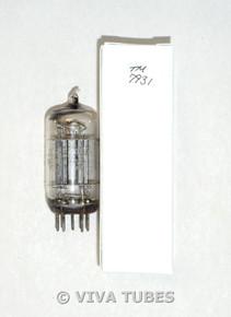 NOS Ken-Rad (GE) USA JKR-12AU7 Black Plate True D Foil Strip Dimple Vacuum Tube