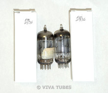 NOS Matched Pair Ken Rad 12AU7 Long Carbonized Gray Plate [] Get Vacuum Tubes