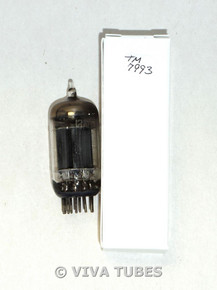 NOS Ken-Rad USA 12AU7 Long Gray Plate True D Dimple Foil Strip Vacuum Tube