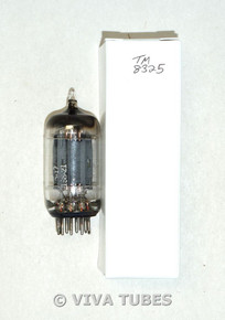 G/Ken-Rad  12AX7 Long Carbonized Gray Plate Top Fat D Get Vacuum Tube 90/83%