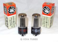 NOS NIB Matched Pair GE USA 25L6GT Black Box Plate Top O Get Vacuum Tubes 100%