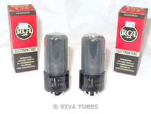 NOS NIB Date Matched Pair RCA 25L6GT Black Plate [] Get Smoked Vacuum Tubes
