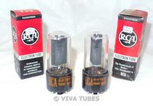 NOS NIB Date Matched Pair RCA USA 25L6GT Black Plate BTM 2 [] Get Vacuum Tubes