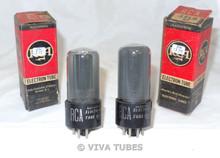 NOS NIB Date Matched Pair RCA USA 35L6GT Black Plate BTM [] Get Vacuum Tubes