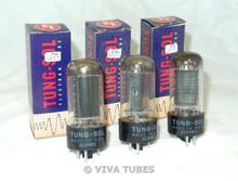 NOS NIB Date Matched Trio (3) Vintage Tung-Sol USA 35L6GT Black P Vacuum Tubes