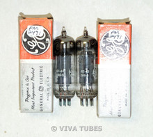 NIB NOS Date Matched Pair GE USA 12X4 [HZ90] Gray Plate Top [] Get Vacuum Tubes