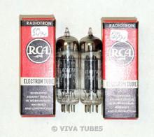 NOS NIB Date Matched Pair RCA 12X4 Black Plate [] Dimple Foil Strip Vacuum Tubes