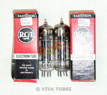 NIB NOS Matched Pair RCA USA 12X4 [HZ90] Black Plate Top O Get Vacuum Tubes