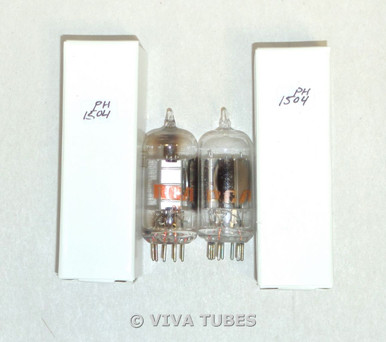 Matched Pair RCA USA 19T8 Silver Plate Side O Get Vacuum Tubes 77% & 77%