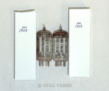 NOS Matched Pair Tung-Sol (Zenith Printed) USA 19T8 Silver Plate Vacuum Tubes