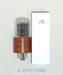 NOS Chatham USA JAN-CAHG-25Z6WGT Black Plate [] Get Brown Base Vacuum Tube 100+%