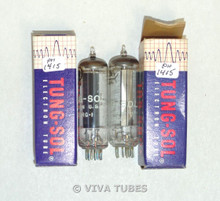 NIB NOS Date Matched Pair Tung-Sol USA 35W4 [HY90] Grey T Plate Vacuum Tubes